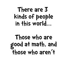 Math People Photographic Print
