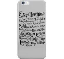 Harry Potter Magic Spells iPhone Case/Skin