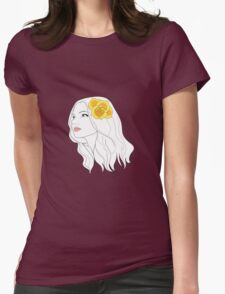 Girl with Rose T-Shirt