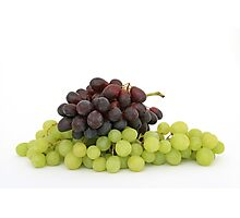 Black and green grapes  Photographic Print
