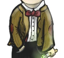 Cartoon Eleventh Doctor Sticker