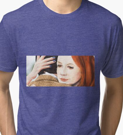Amy Pond and the 11th Doctor Tri-blend T-Shirt