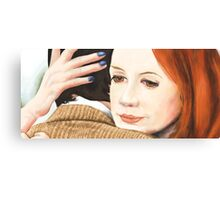 Amy Pond and the 11th Doctor Canvas Print