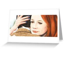 Amy Pond and the 11th Doctor Greeting Card