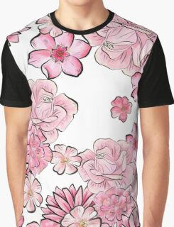 Pink floral  Graphic T-Shirt