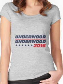 Frank Underwood for President Women's Fitted Scoop T-Shirt