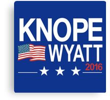 knope wyatt 2016 Canvas Print