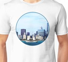 Chicago IL - Schooner Against Chicago Skyline Unisex T-Shirt