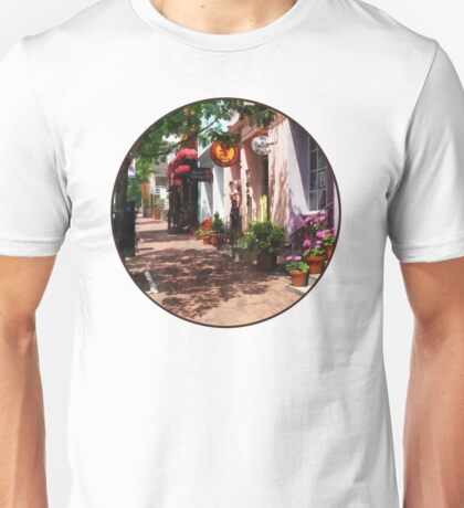 Alexandria VA - Street With Art Gallery and Tobacconist  Unisex T-Shirt