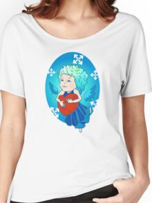Cute angel with red heart Women's Relaxed Fit T-Shirt