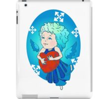Cute angel with red heart iPad Case/Skin