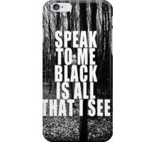 Asking Alexandria Lyrics The Black iPhone Case/Skin