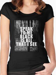 Asking Alexandria Lyrics The Black Women's Fitted Scoop T-Shirt