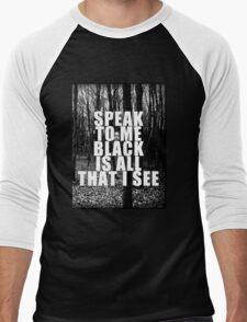 Asking Alexandria Lyrics The Black Men's Baseball ¾ T-Shirt