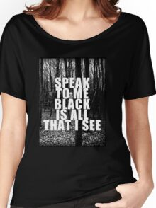 Asking Alexandria Lyrics The Black Women's Relaxed Fit T-Shirt