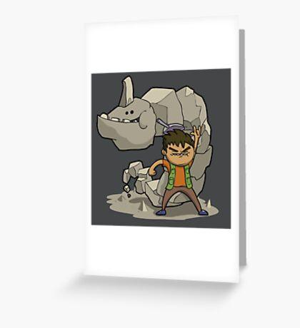 Brocking it! Greeting Card
