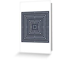 Tribal square on blue Greeting Card