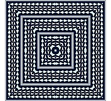 Tribal square on blue Photographic Print