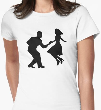 Swing dancing Womens Fitted T-Shirt