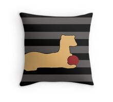 Ferret with red ball Throw Pillow