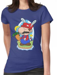 Bunny power! Womens Fitted T-Shirt