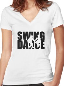 Swing dance Women's Fitted V-Neck T-Shirt