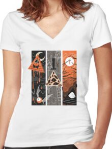 ...Spooky Bill... Women's Fitted V-Neck T-Shirt