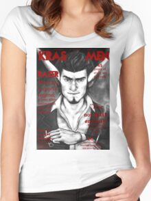 Razer Cover Kras Men Magazine Women's Fitted Scoop T-Shirt