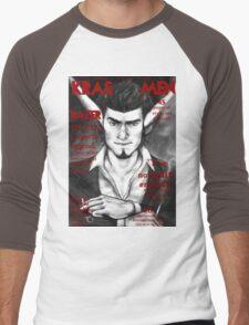 Razer Cover Kras Men Magazine Men's Baseball ¾ T-Shirt