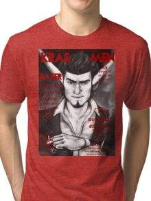 Razer Cover Kras Men Magazine Tri-blend T-Shirt