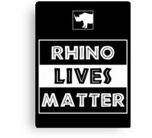 Rhino Lives Matter Canvas Print
