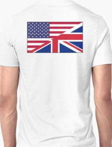 ANGLO AMERICAN, FLAG, USA, America, Great Britain, Union Jack, Stars & Stripes Unisex T-Shirt