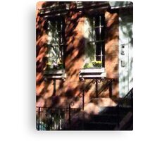 Manhattan NY - Window Boxes Greenwich Village Canvas Print