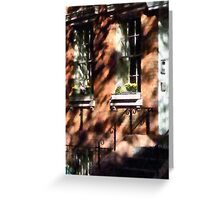 Manhattan NY - Window Boxes Greenwich Village Greeting Card
