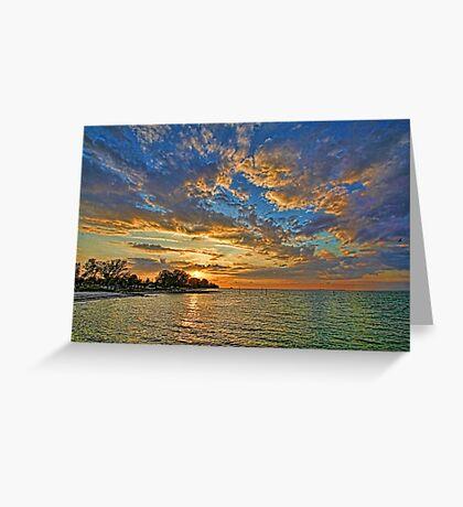 Sun Going Down Greeting Card