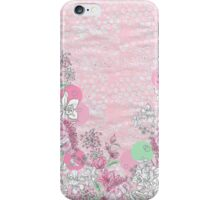 Spotty Pink Flowers iPhone Case/Skin
