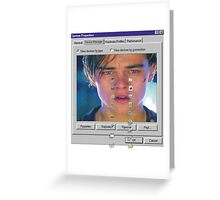dicaprio crying  Greeting Card