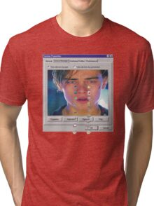 dicaprio crying  Tri-blend T-Shirt