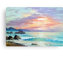 Sea Sunset In Motion Canvas Print