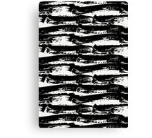 Black Brush Strokes Canvas Print