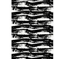Black Brush Strokes Photographic Print