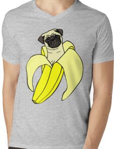 banana pug Mens V-Neck T-Shirt