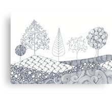 Tree Scene Canvas Print