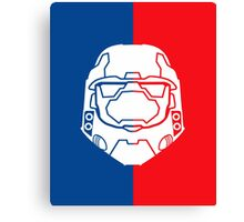 Halo Master Chief - Red V Blue Canvas Print