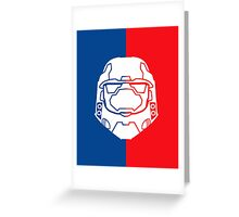 Halo Master Chief - Red V Blue Greeting Card