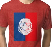 Halo Master Chief - Red V Blue Tri-blend T-Shirt