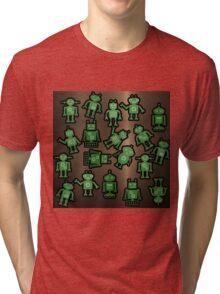 Lost robots Fiction Futuristic Graphic T-shirt Tri-blend T-Shirt