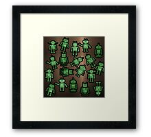 Lost robots Fiction Futuristic Graphic T-shirt Framed Print