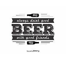 Beer T Shirt Photographic Print