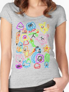 Poorly Drawn Pokemon Women's Fitted Scoop T-Shirt